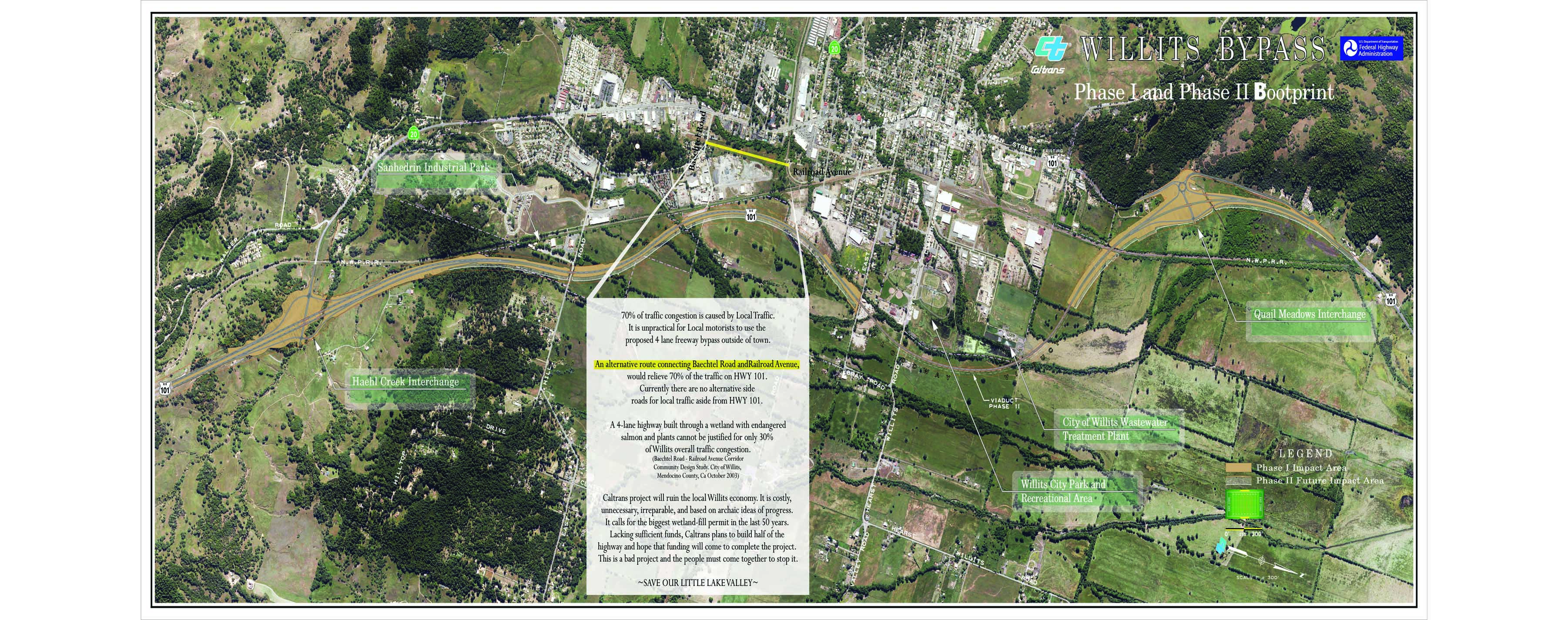 Willits ByPass Save Richardson Grove - Caltrans traffic map
